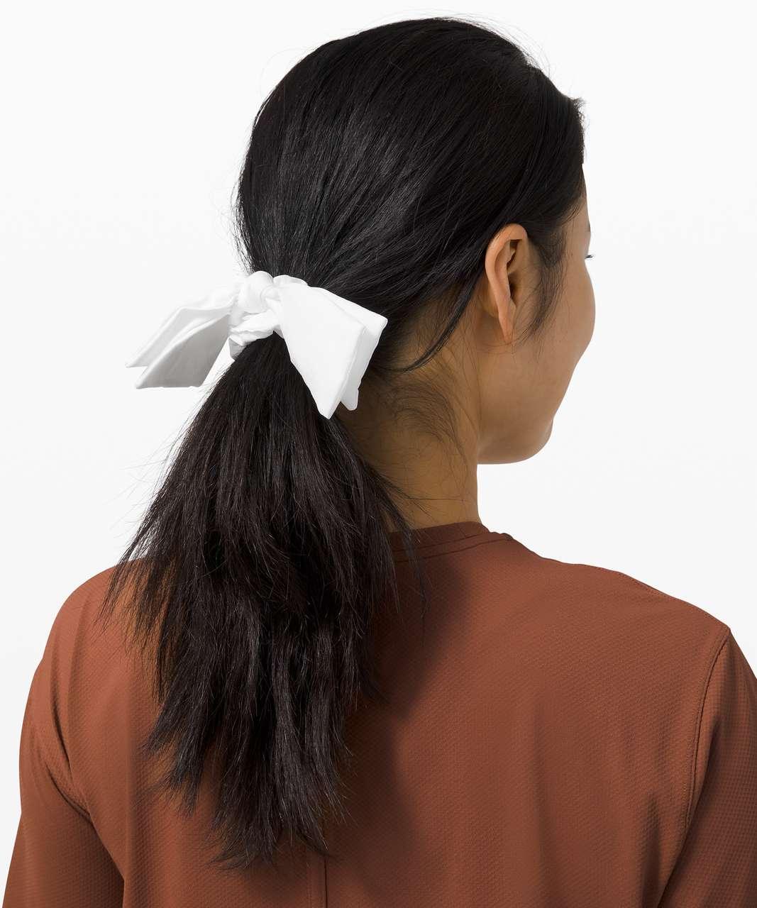 Lululemon Uplifting Scrunchie *Ribbon - White