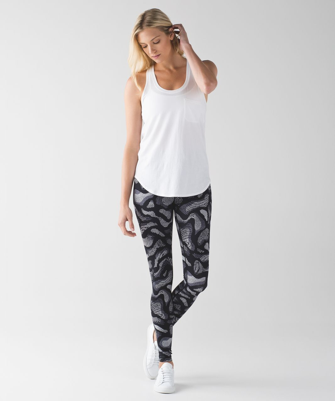 Lululemon Wunder Under Pant (Hi-Rise) - Warp Ice Grey Black
