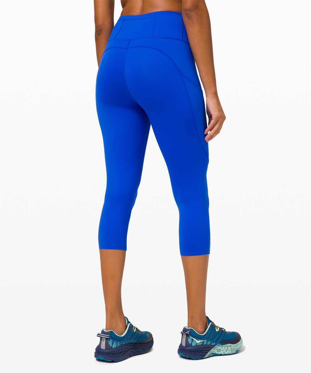 """Lululemon Fast and Free Crop II 19"""" *Non-Reflective - Cerulean Blue"""