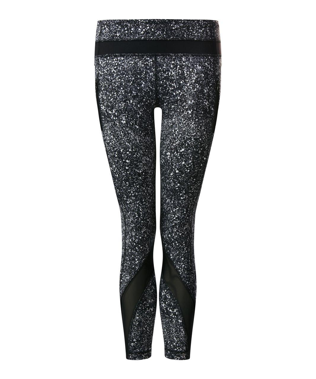 Lululemon Inspire Tight II - Splatter White Black / Black
