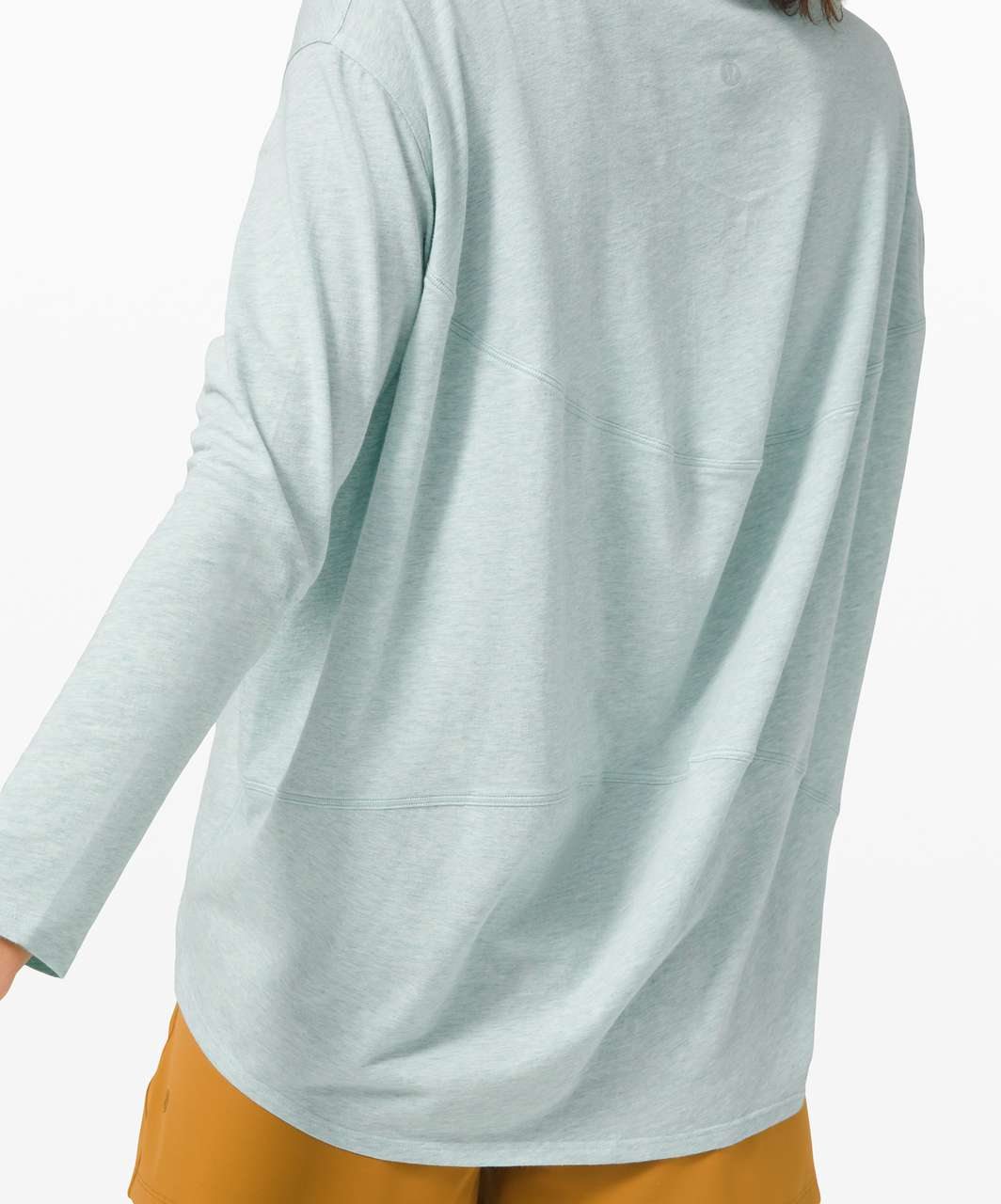 Lululemon Back In Action Long Sleeve - Heathered Hazy Jade