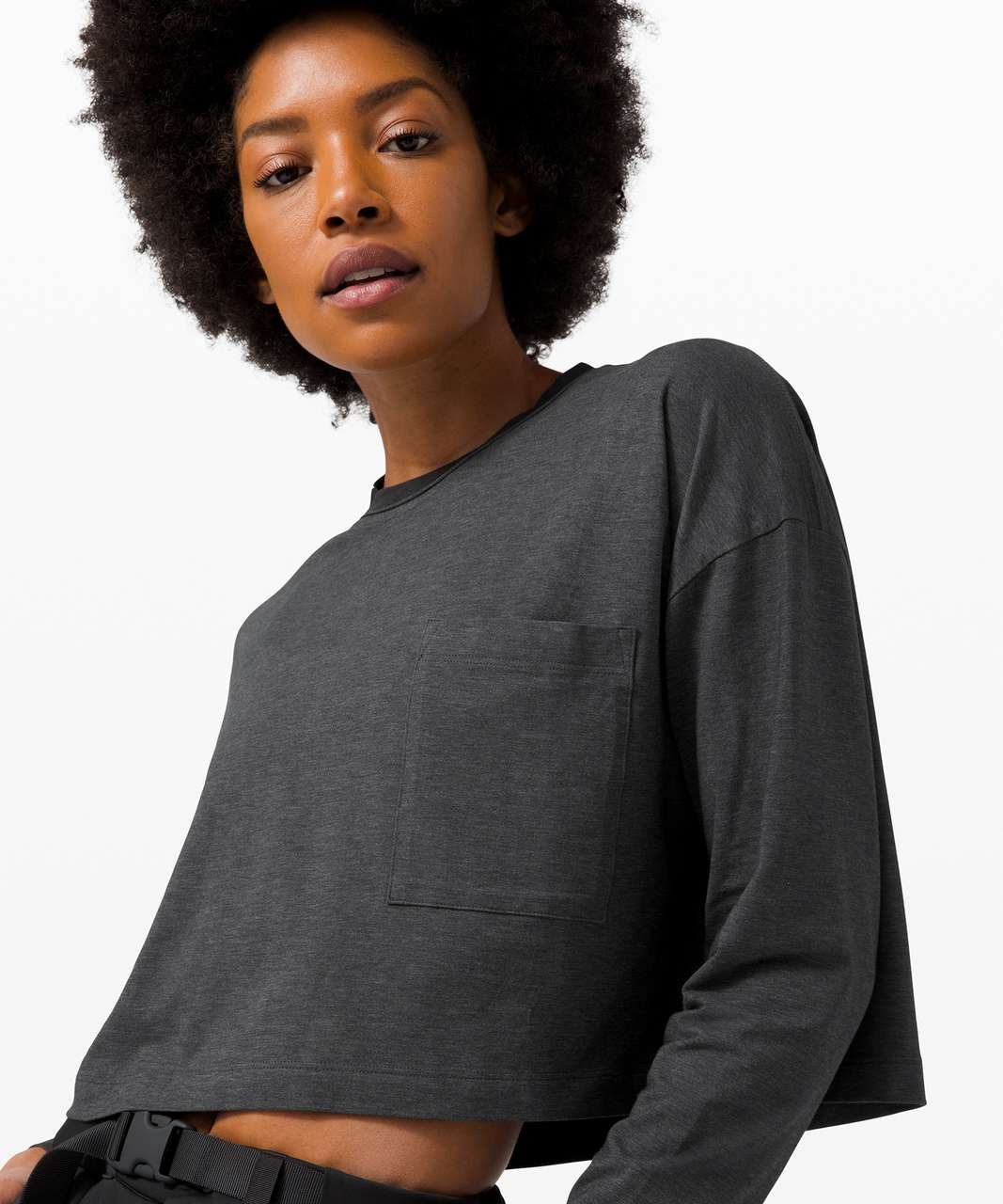 Lululemon Check the Box Long Sleeve - Heathered Black