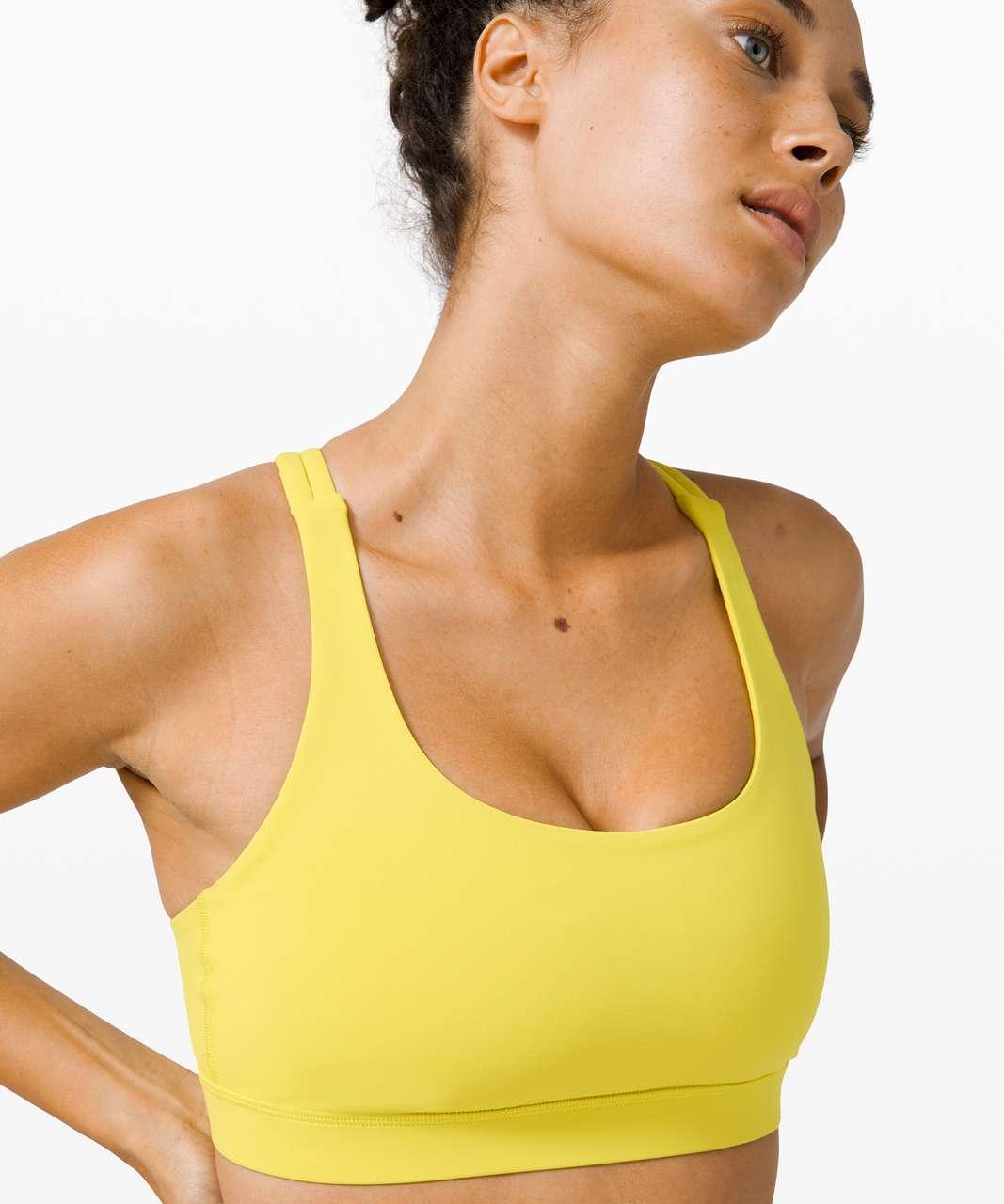 Lululemon Energy Bra *Medium Support, B–D Cup - Yellow Serpentine