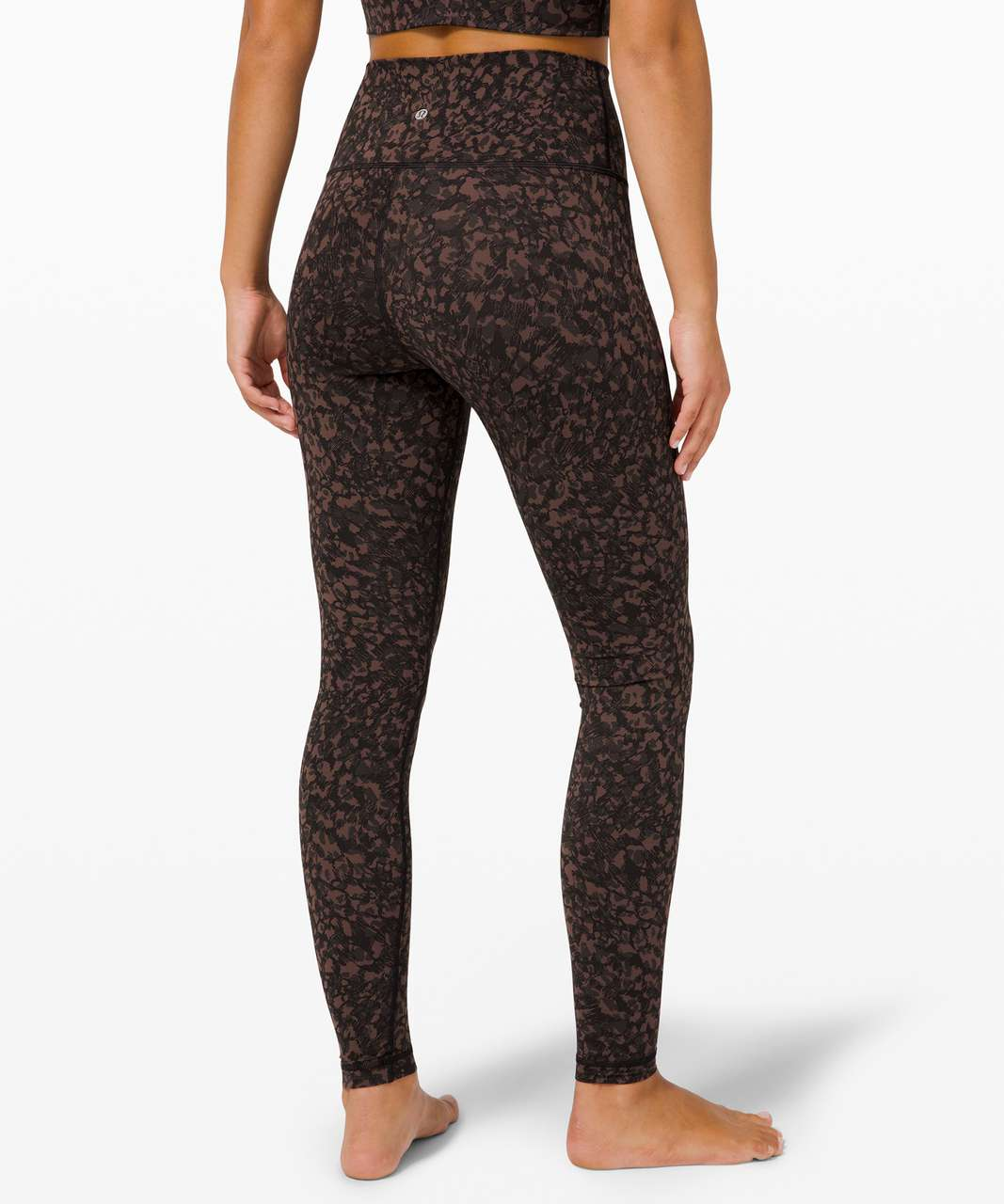 """Lululemon Wunder Under High-Rise Tight 28"""" *Full-On Luxtreme - Wild Thing Camo Brown Earth Multi"""