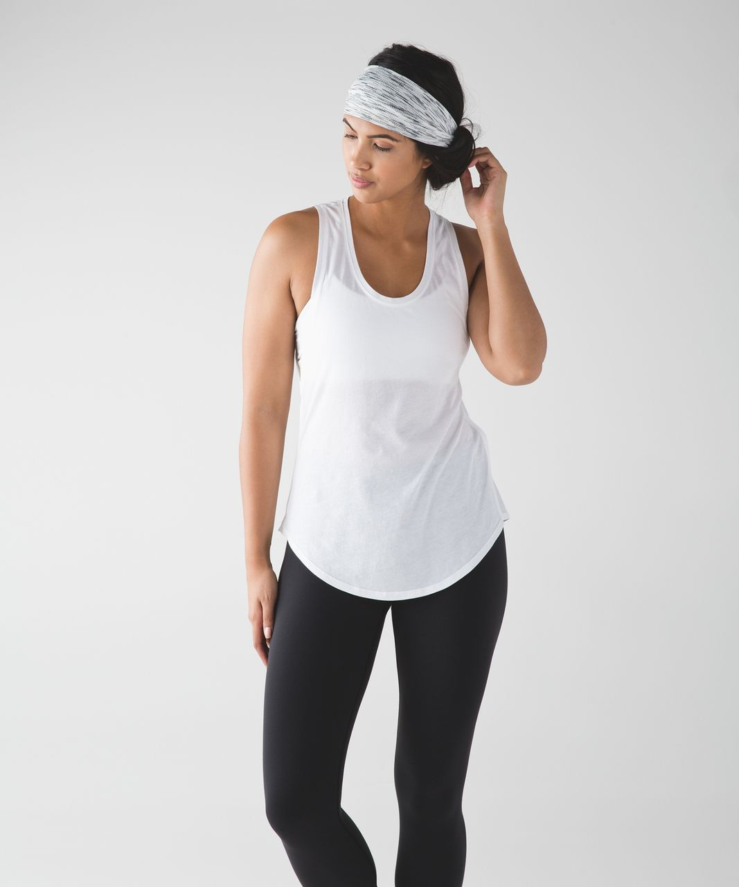 Lululemon Fringe Fighter Headband - Wee Are From Space Ice Grey Alpine White / Tiger Space Dye Black White