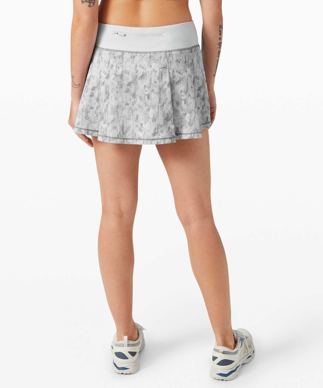 "Lululemon Pace Rival Skirt (Regular) *No Panels 13"" - City Breeze Alpine White Multi / Alpine White"