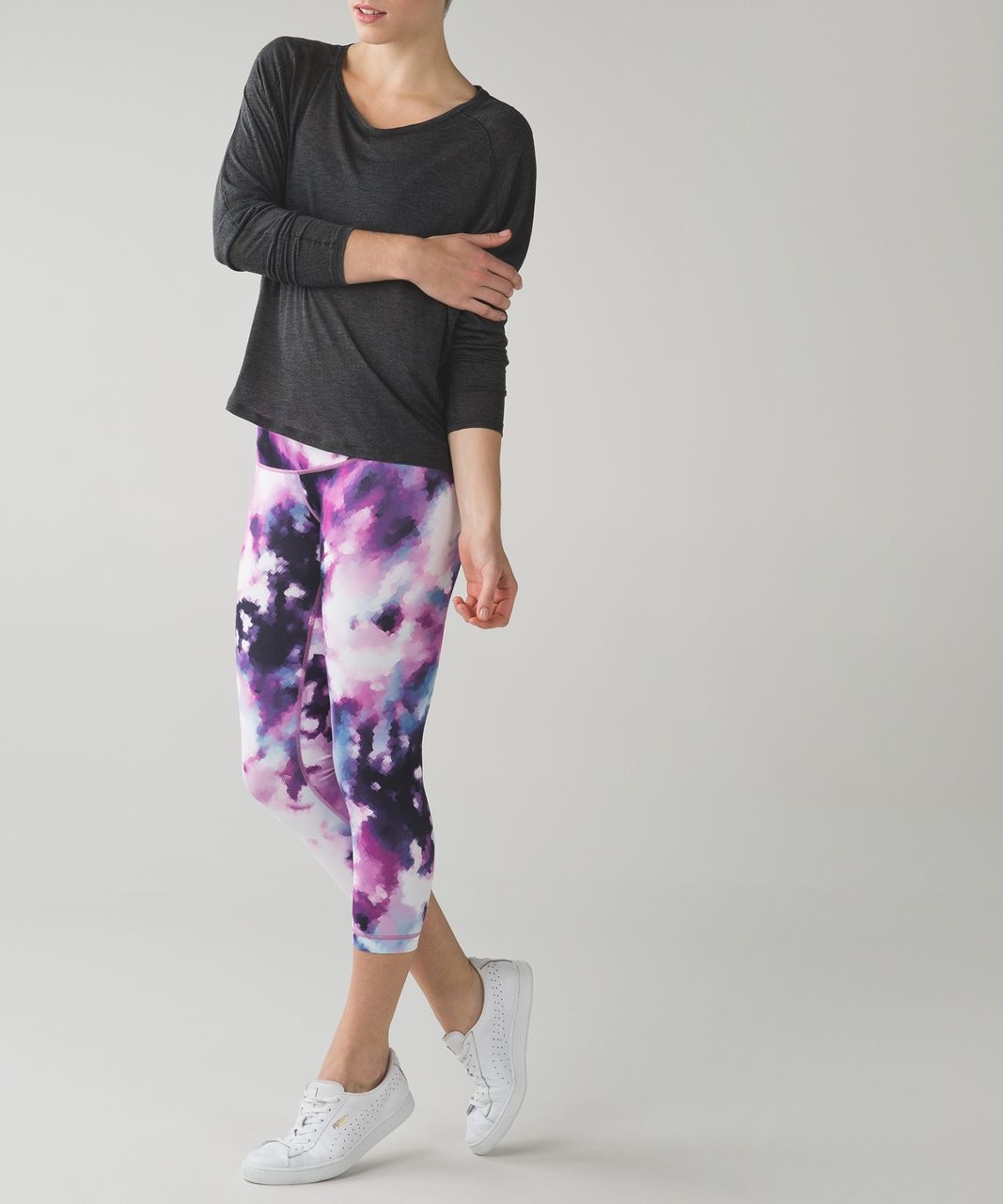 Lululemon Wunder Under Crop III - Blooming Pixie Multi