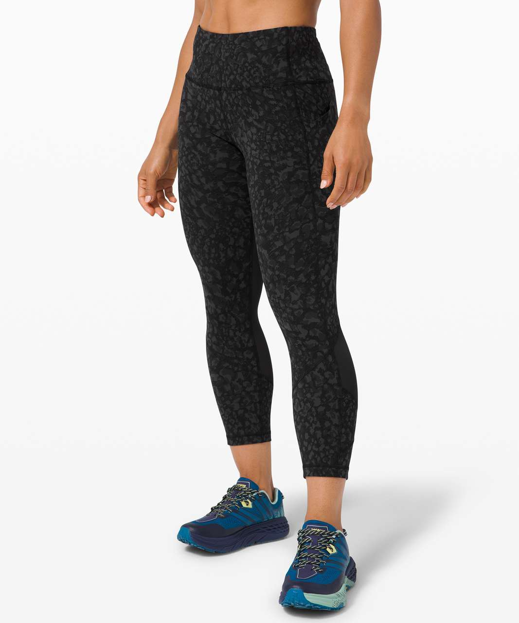 "Lululemon Pace Rival High-Rise Crop 22"" - Wild Thing Camo Deep Coal Multi / Black"
