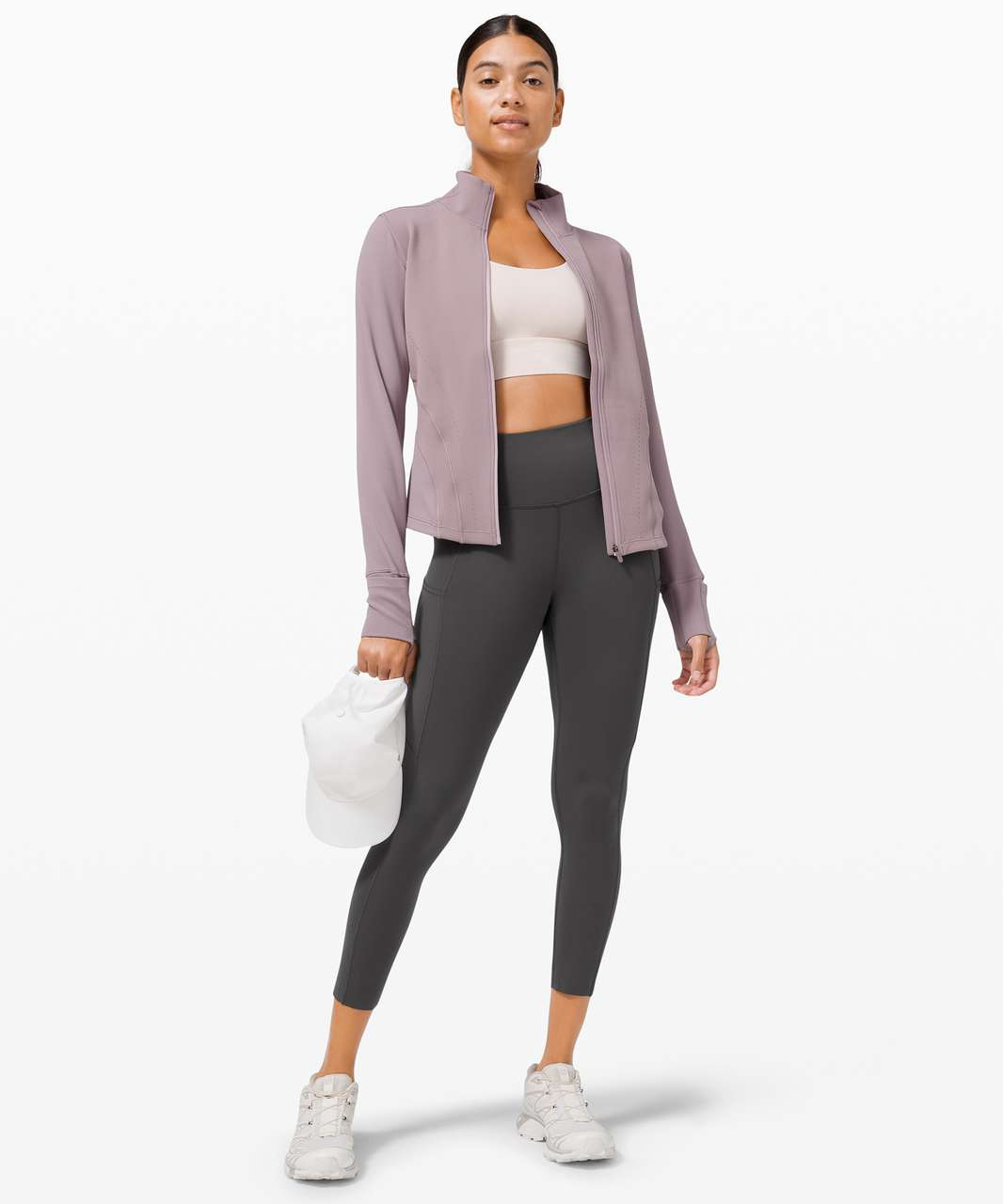 """Lululemon Fast and Free High-Rise Crop II 23"""" *Non-Reflective - Graphite Grey"""
