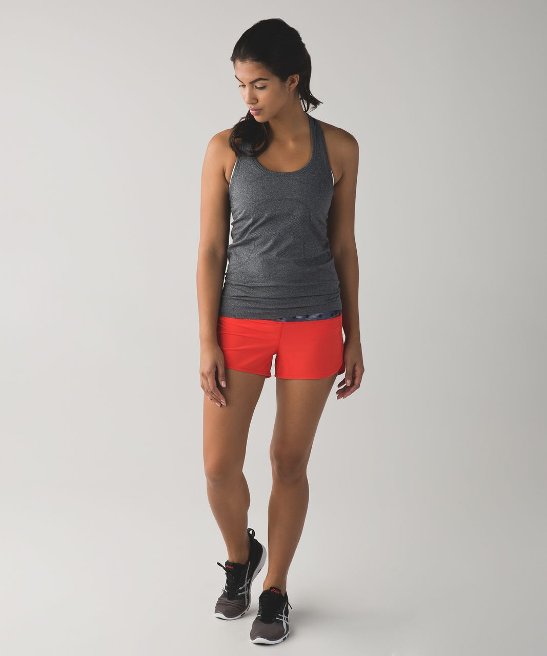 Lululemon Speed Short - Alarming / Windy Blooms Regal Plum Multi
