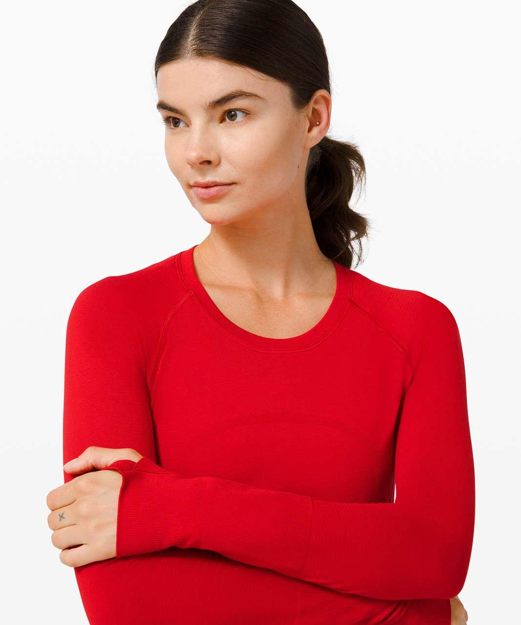 Lululemon Swiftly Tech Long Sleeve 2.0 - Dark Red / Dark Red