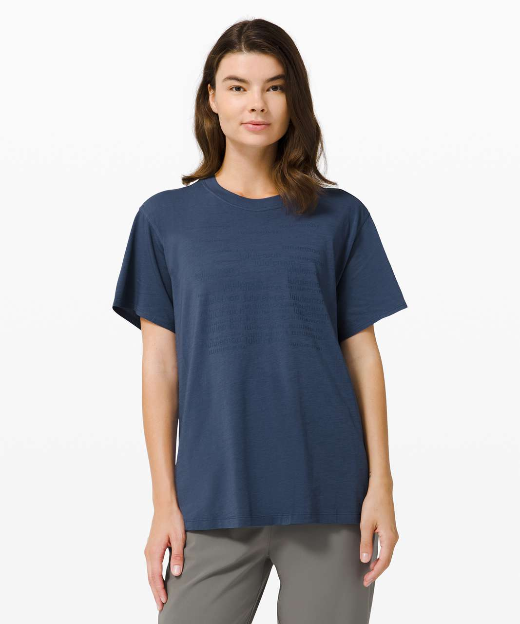 Lululemon All Yours Tee *Graphic - Iron Blue