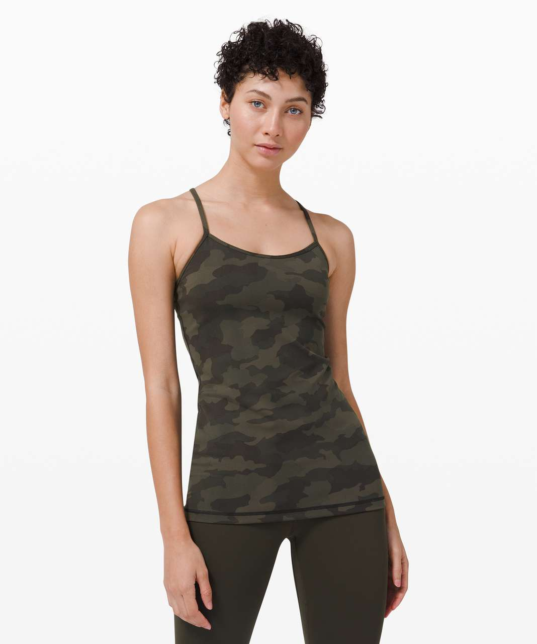 Lululemon Power Y Tank *Everlux - Heritage 365 Camo Dark Olive Multi