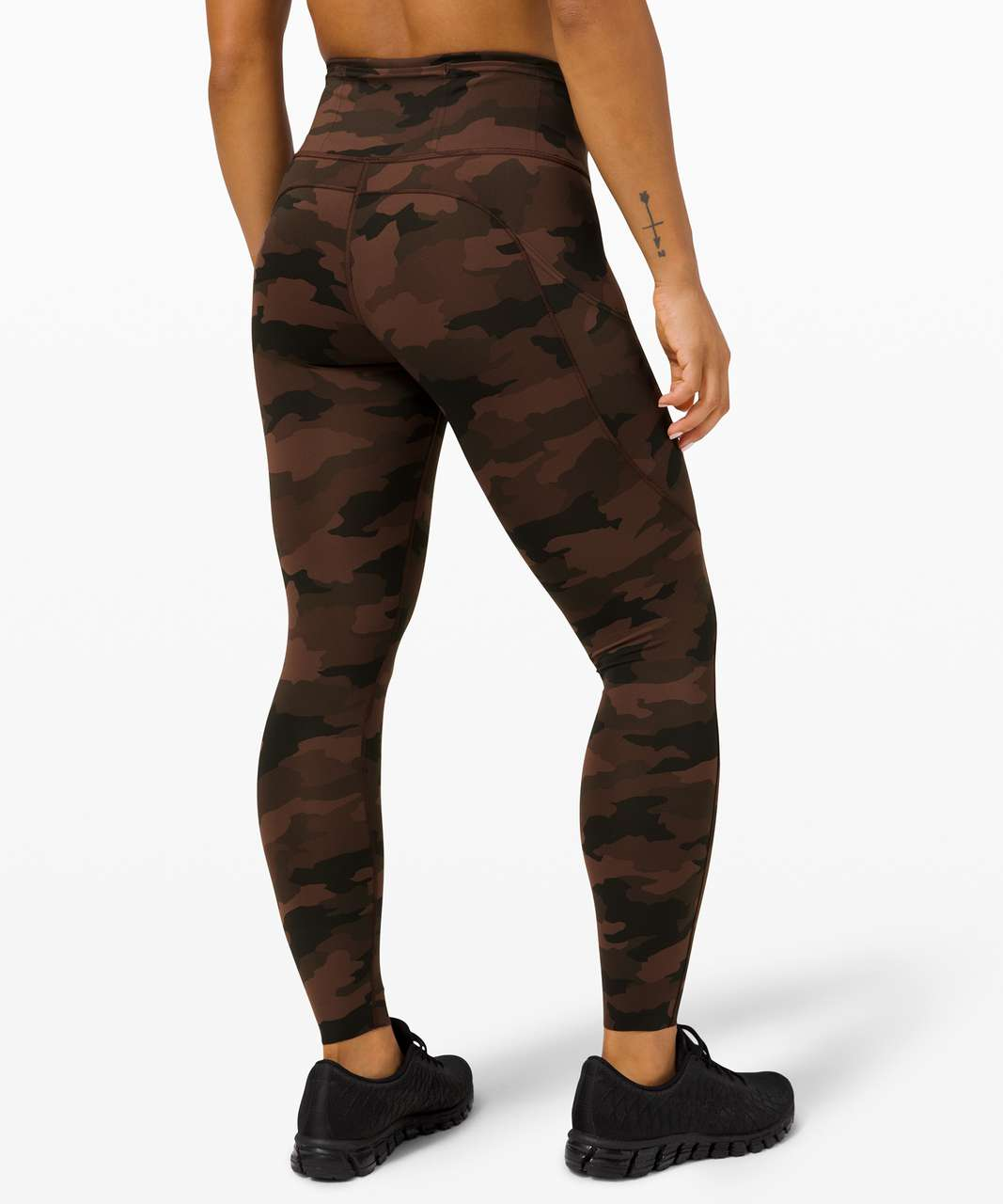 "Lululemon Fast and Free Tight II 25"" *Non-Reflective Nulux - Heritage 365 Camo Brown Earth Multi"