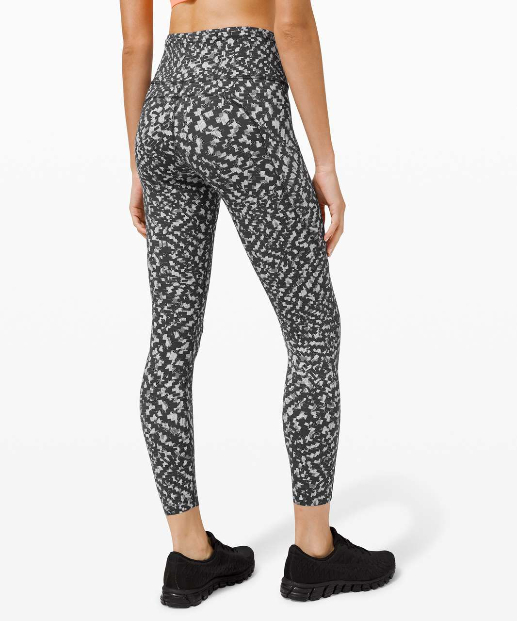 "Lululemon Fast and Free Tight II 25"" *Non-Reflective Nulux - Pace Lace Graphite Grey Multi"