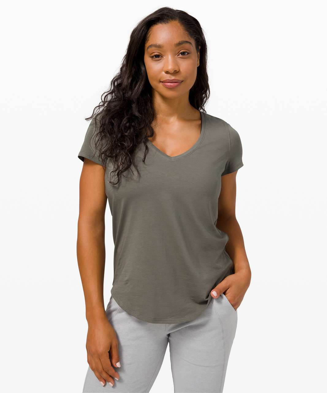 Lululemon Love Tee V - Grey Sage