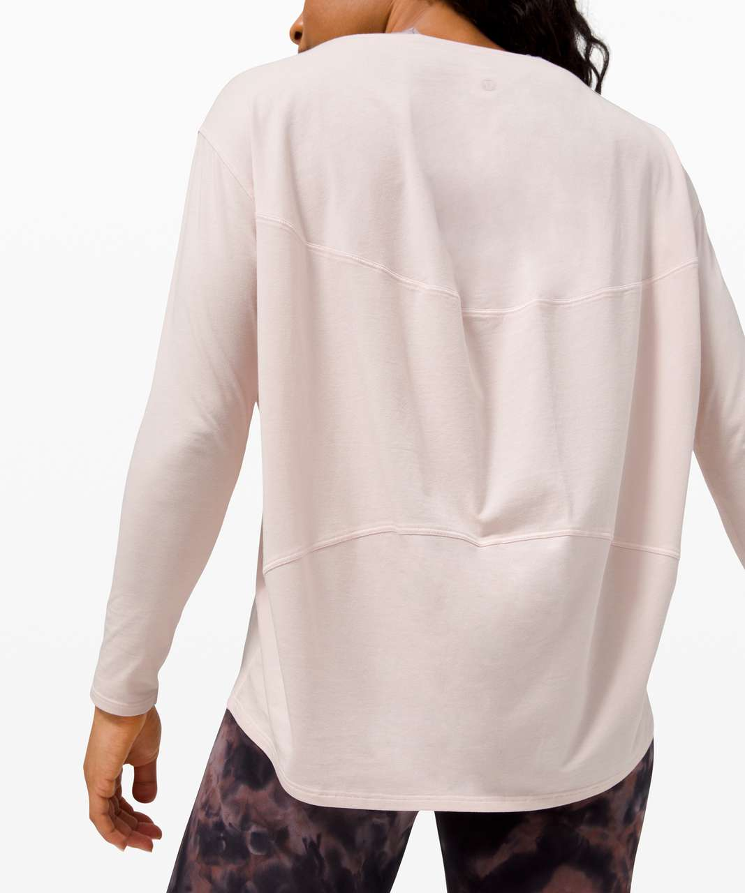 Lululemon Back In Action Long Sleeve - Feather Pink