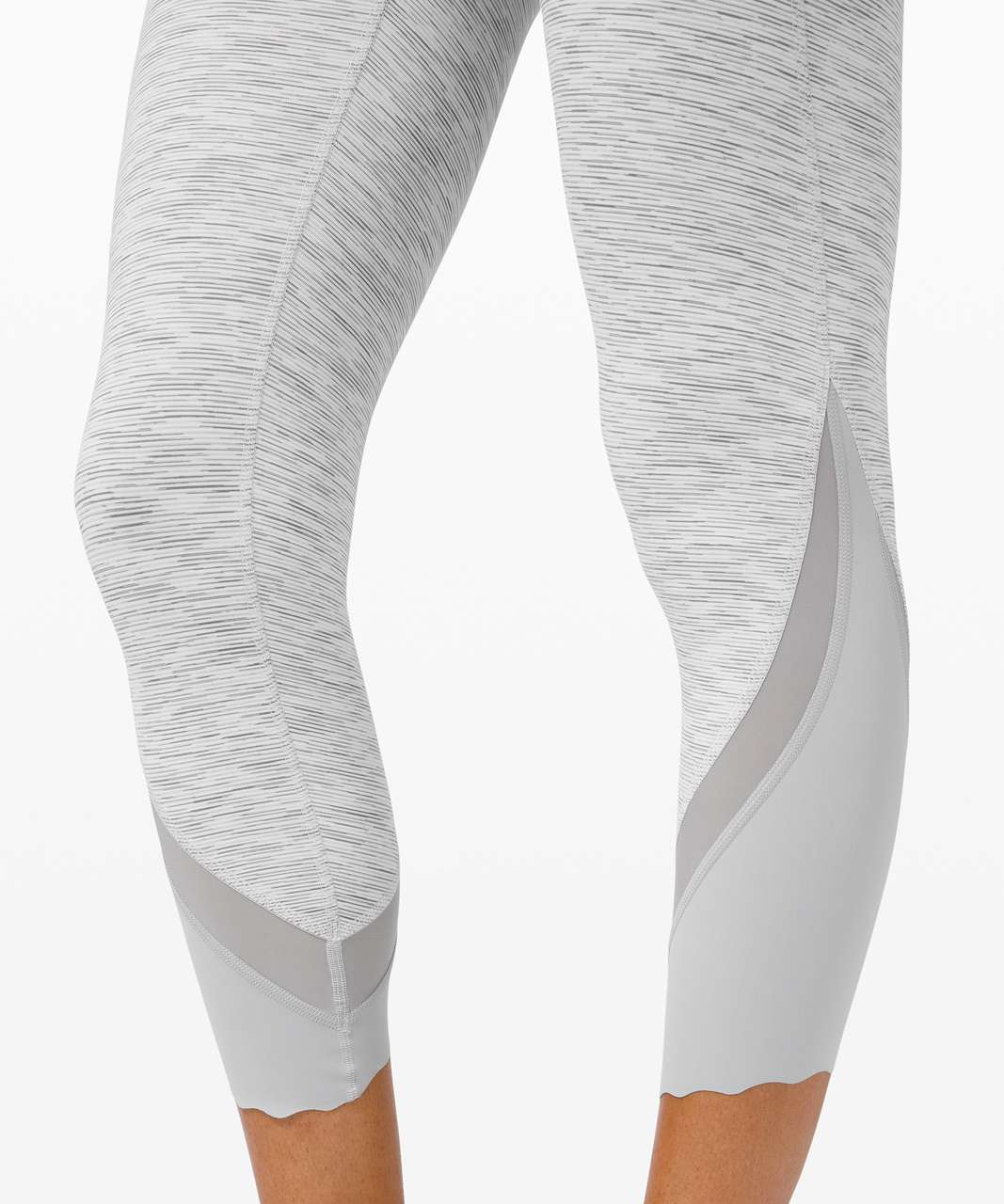 """Lululemon Wunder Under Crop High-Rise *Roll Down Scallop Full-On Luxtreme 23"""" - Wee Are From Space Nimbus Battleship"""