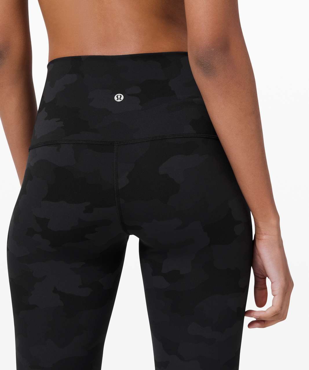 """Lululemon Wunder Under Crop High-Rise *Roll Down Scallop Full-On Luxtreme 23"""" - Heritage 365 Camo Deep Coal Multi"""
