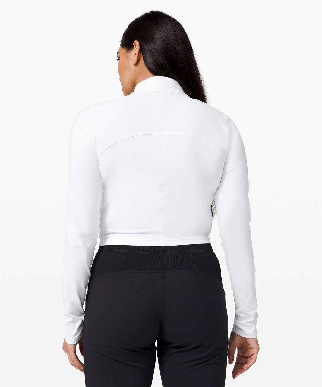 Lululemon All Aligned Mock Neck Long Sleeve - White