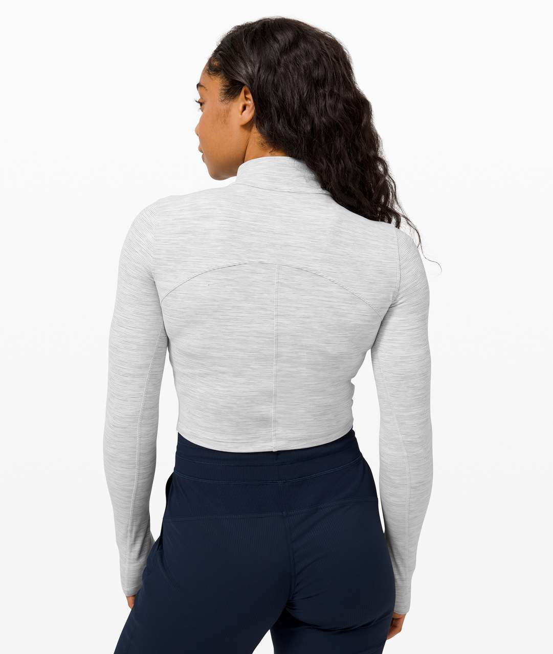 Lululemon All Aligned Mock Neck Long Sleeve - Wee Are From Space Nimbus Battleship