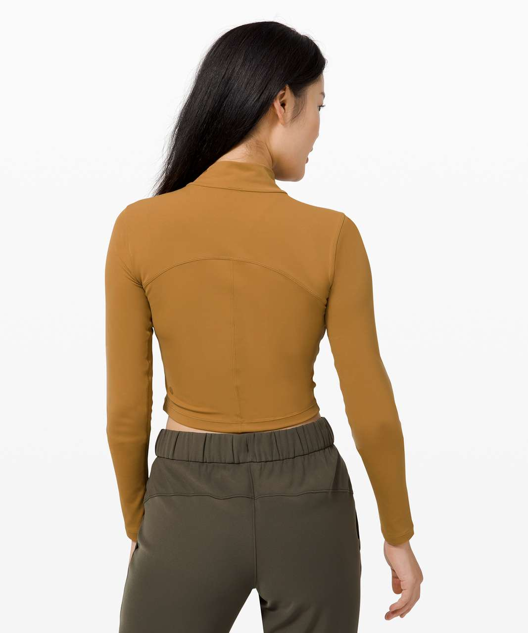 Lululemon All Aligned Mock Neck Long Sleeve - Spiced Bronze