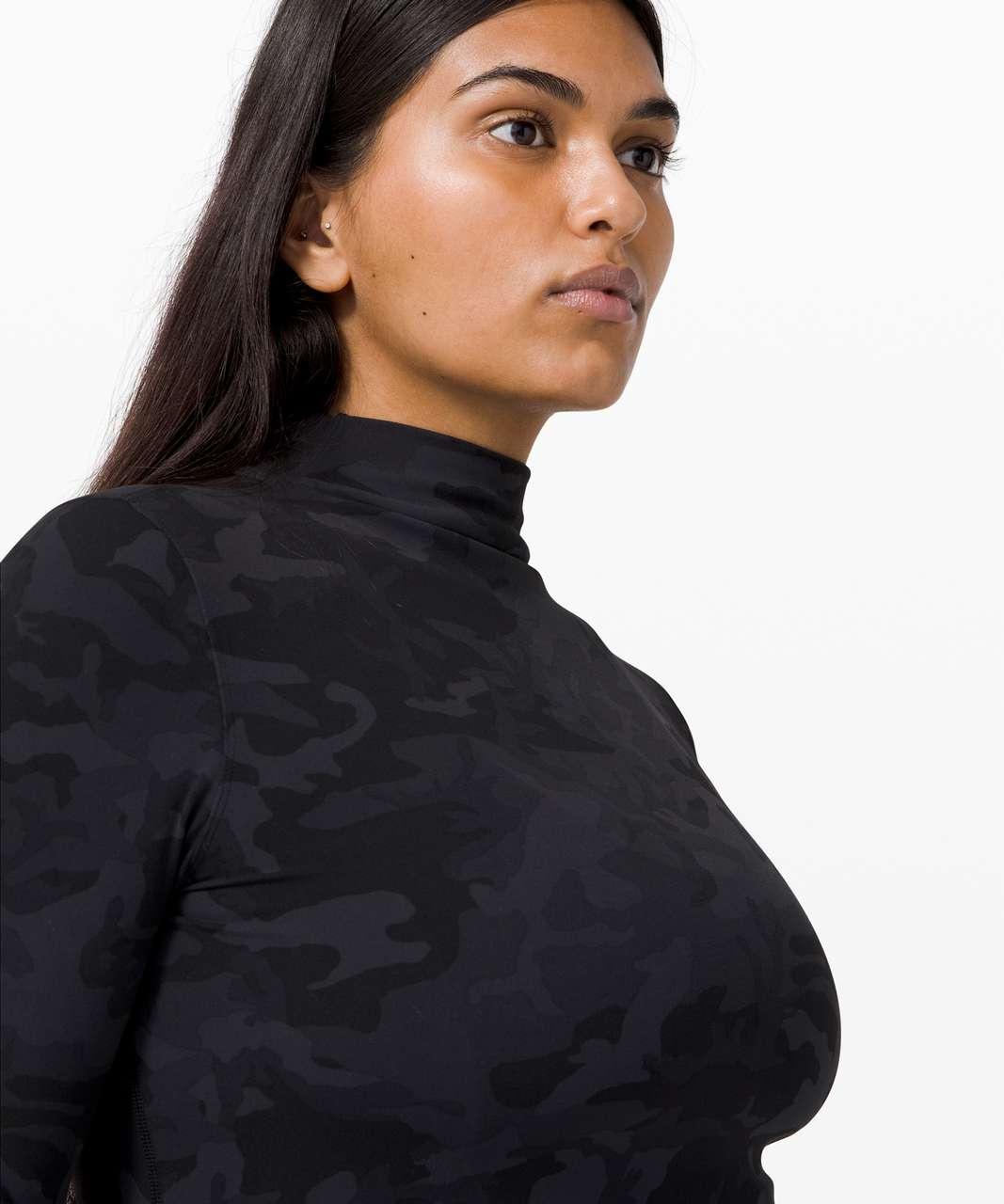 Lululemon All Aligned Mock Neck Long Sleeve - Incognito Camo Multi Grey