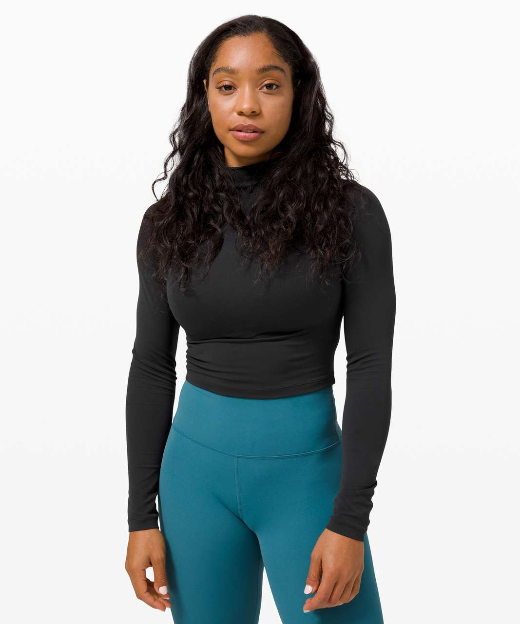 Lululemon All Aligned Mock Neck Long Sleeve - Black