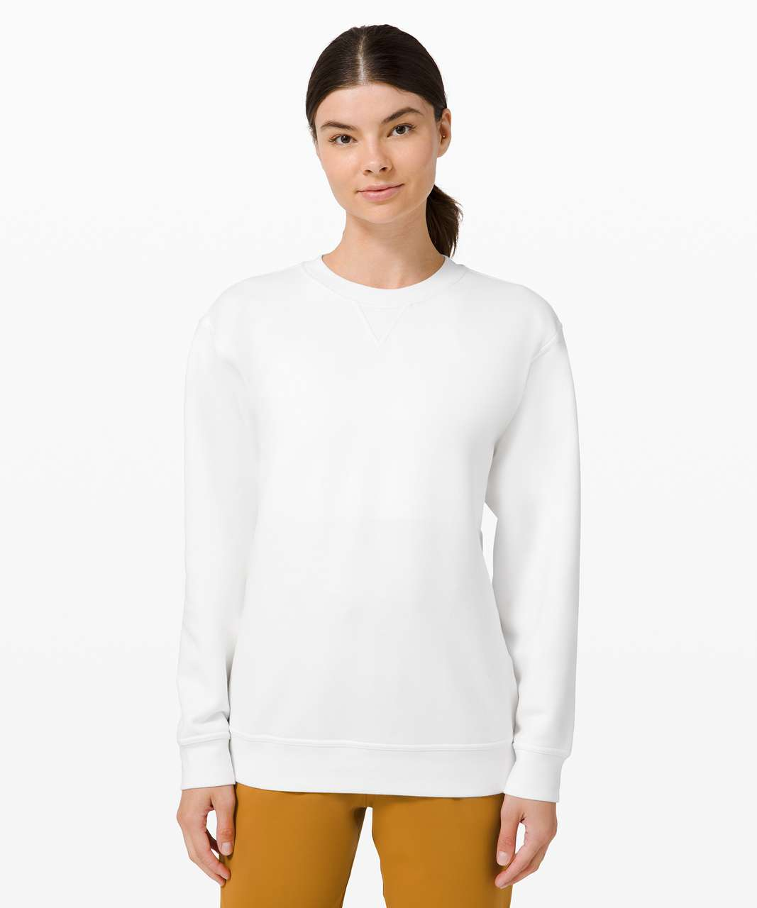 Lululemon All Yours Crew *Fleece - White