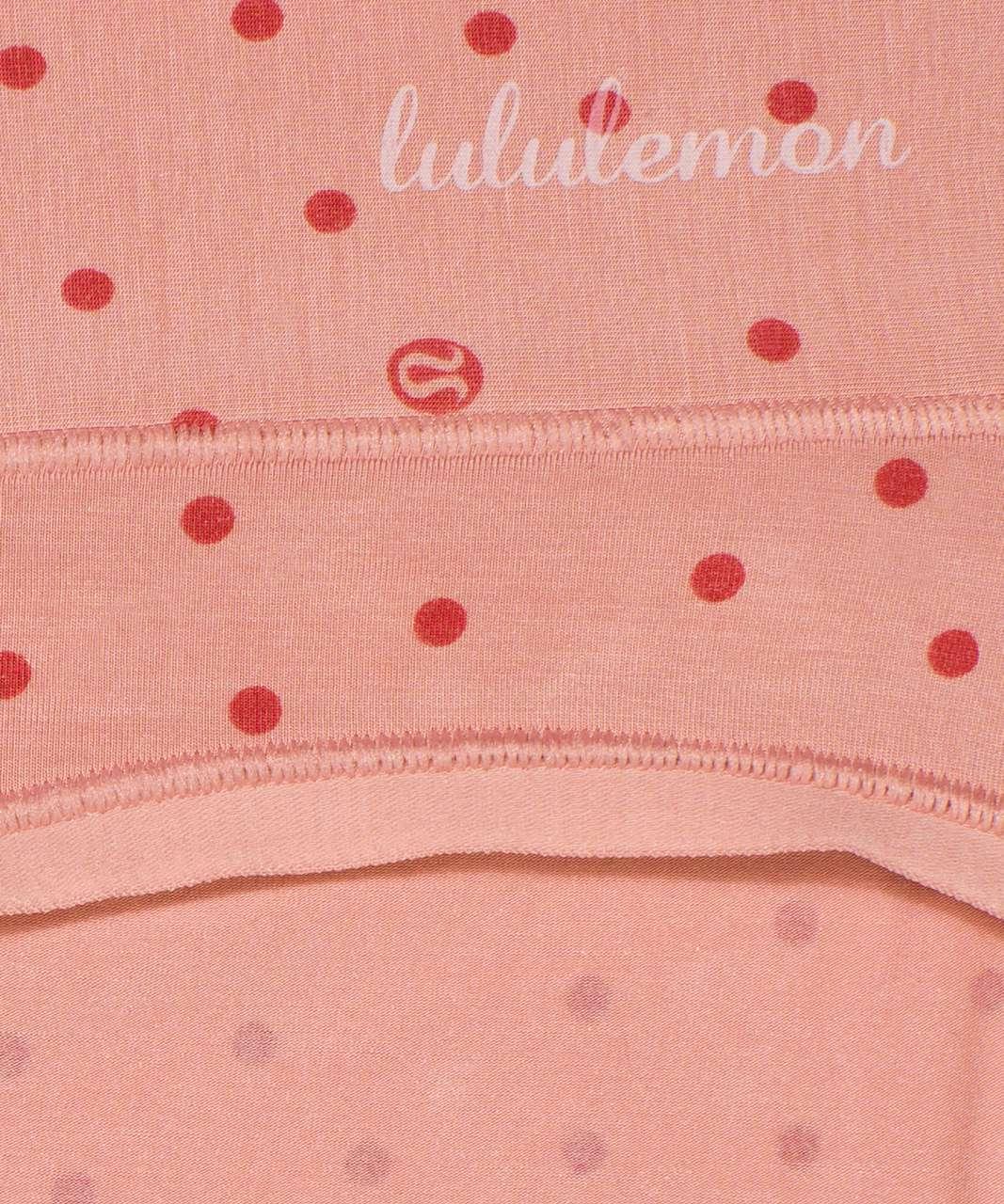 Lululemon Soft Breathable Bikini - Inspirit Polka Pink Pastel Brier Rose