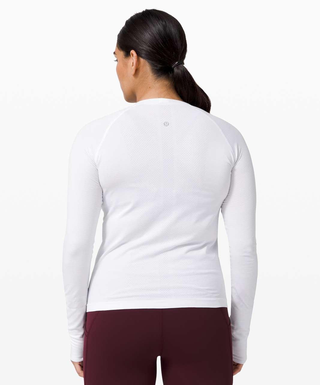 Lululemon Swiftly Tech Long Sleeve 2.0 *Race Length - White / White (First Release)