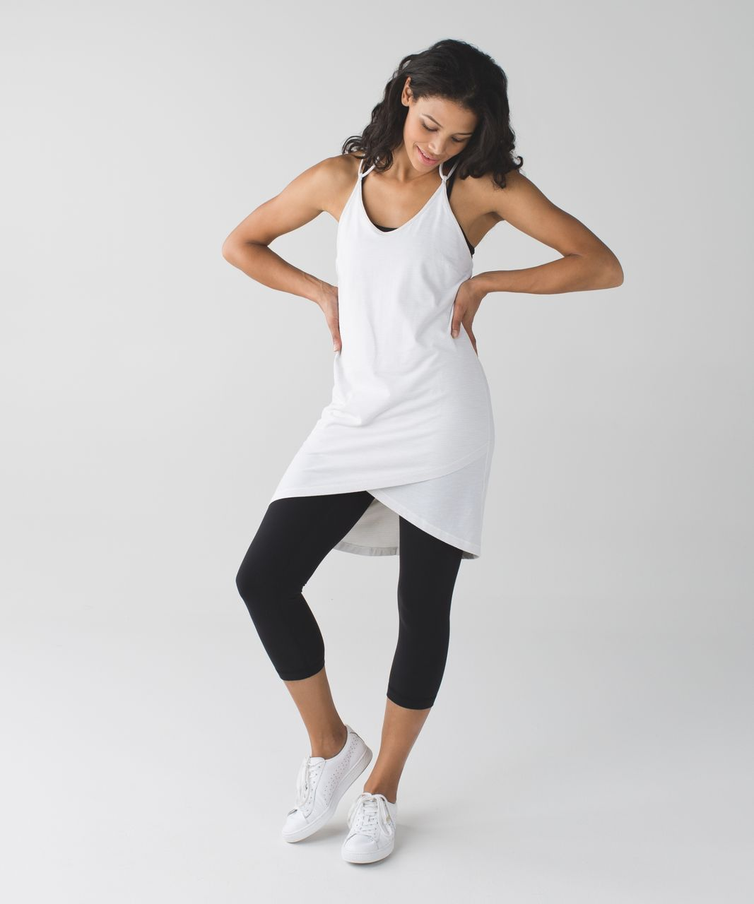 Lululemon Just Chillin Dress - Heathered White / White