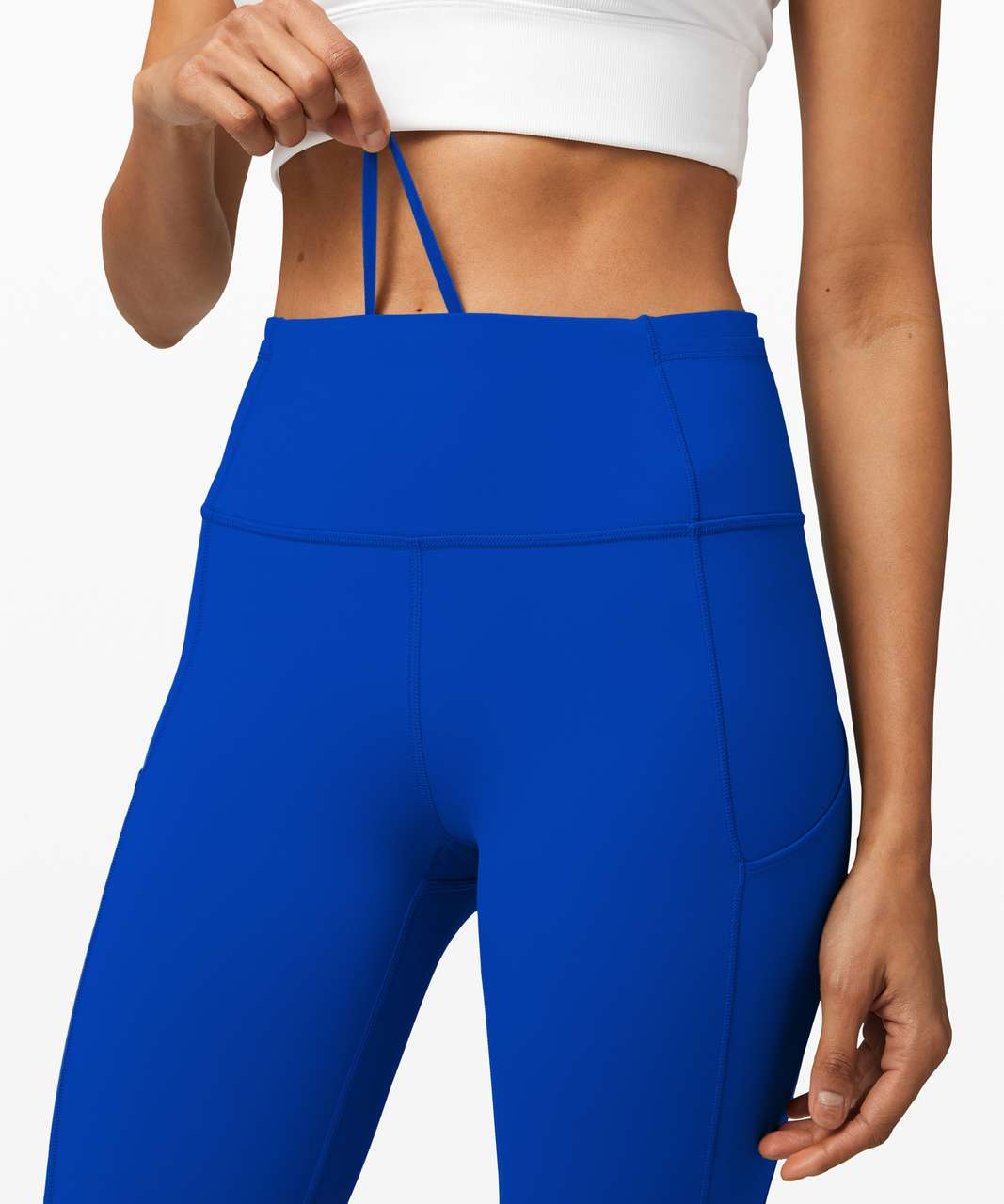 """Lululemon Fast and Free Tight II 25"""" *Non-Reflective Nulux - Cerulean Blue"""