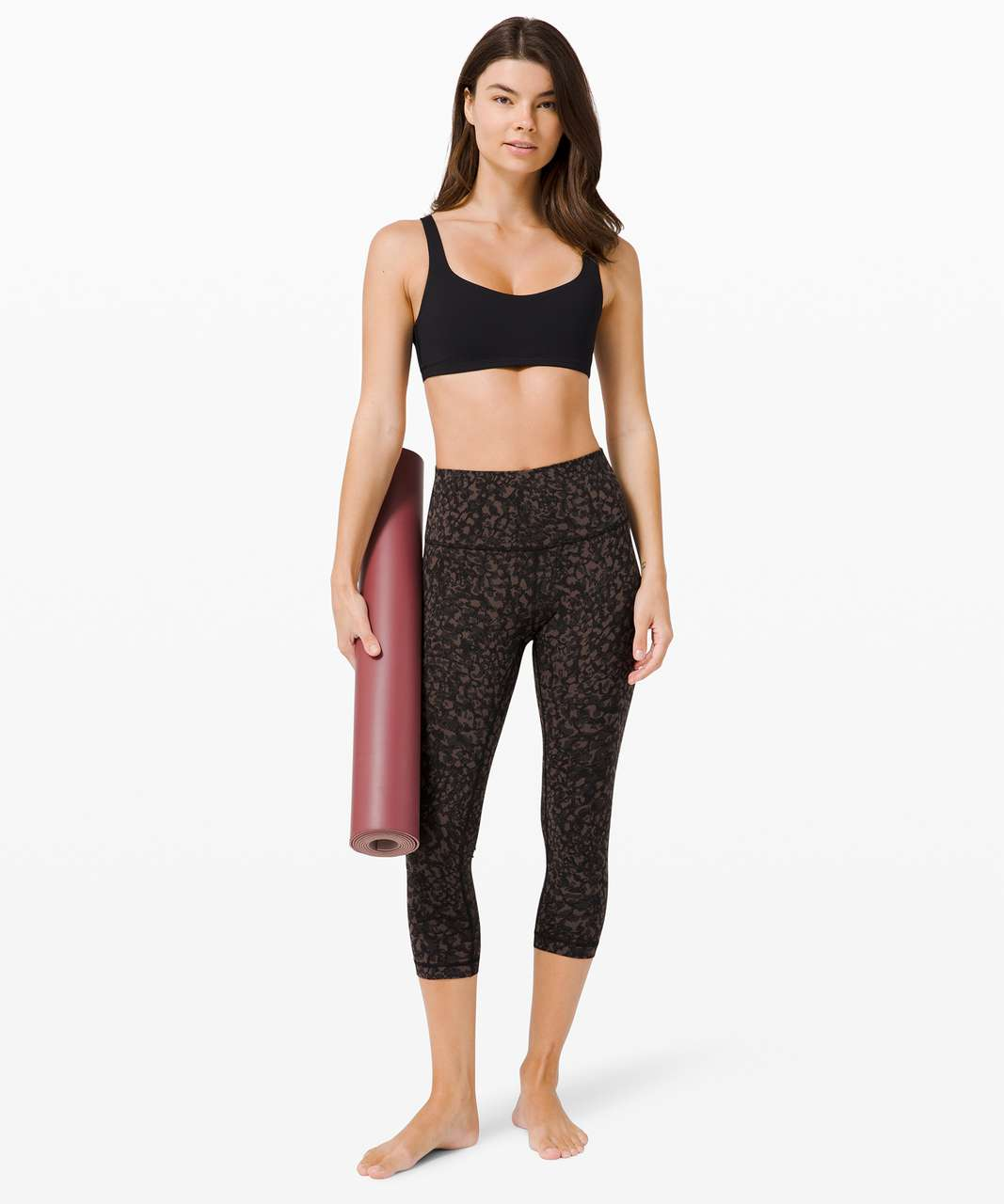 """Lululemon Wunder Under Crop (High-Rise) *Full-On Luxtreme 21"""" - Wild Thing Camo Brown Earth Multi"""