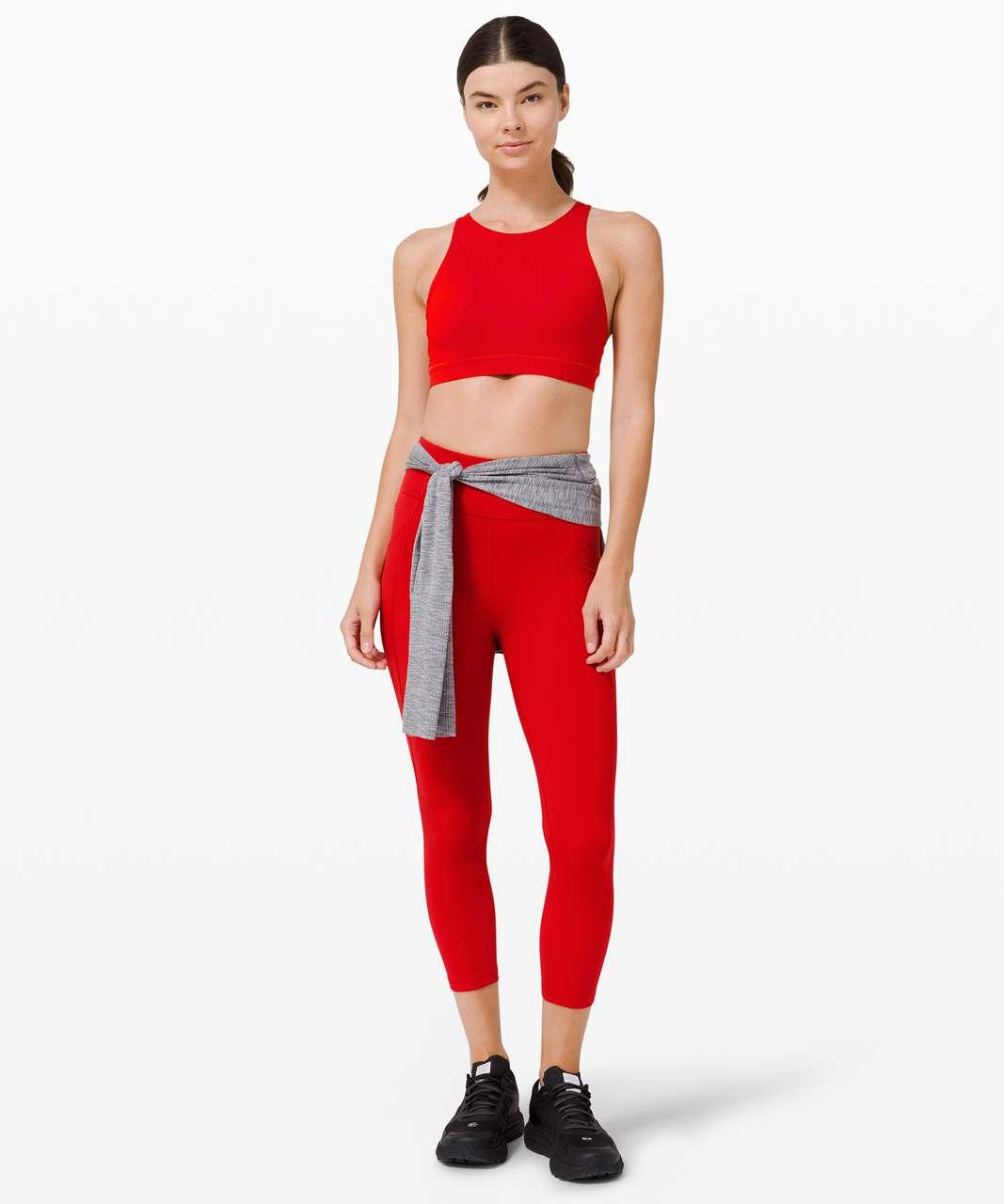 Lululemon Energy Bra High Neck *Medium Support, B–D Cup - Dark Red