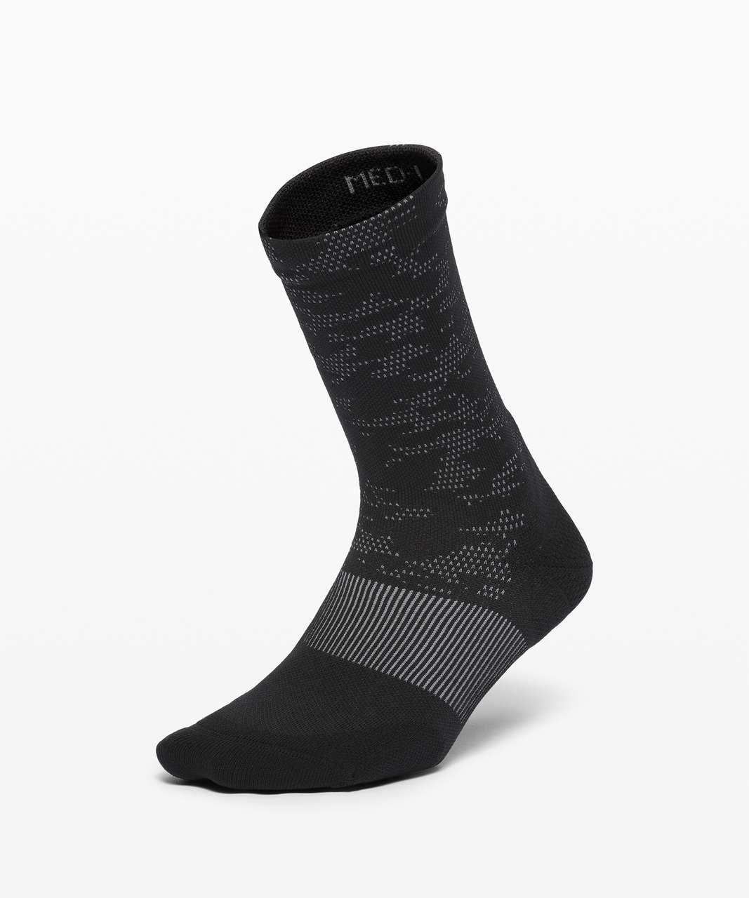 Lululemon Power Stride Crew Sock *Camo - Black