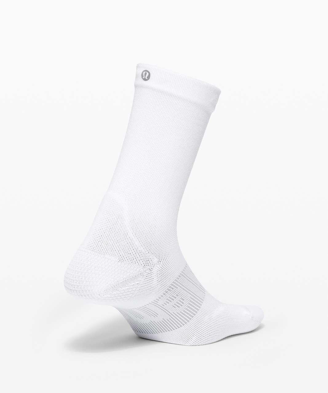 Lululemon Power Stride Crew Sock *Wordmark - White