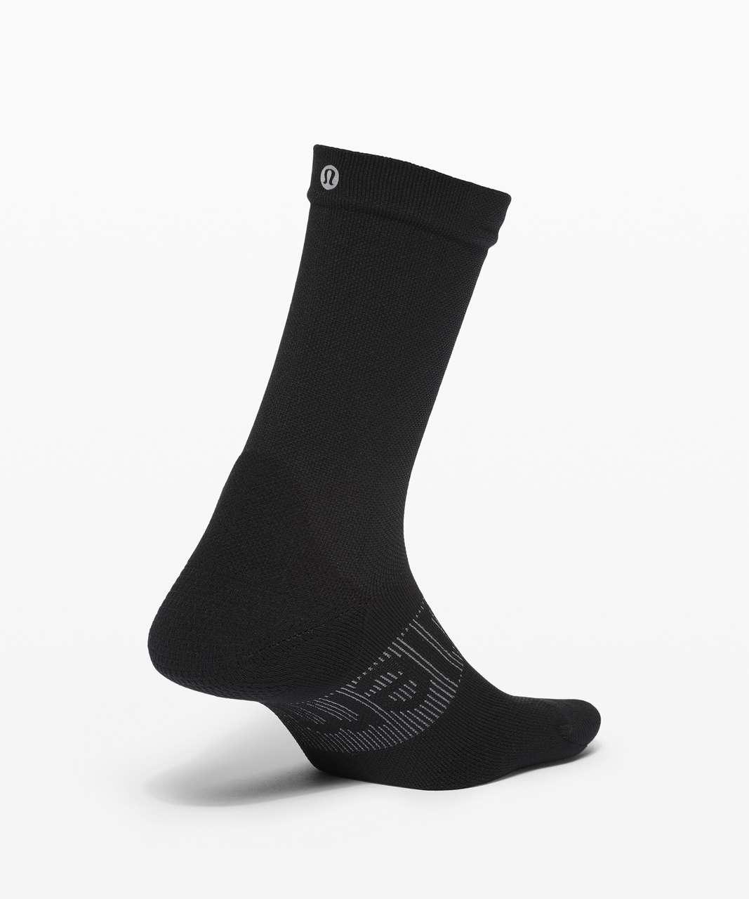 Lululemon Power Stride Crew Sock *Wordmark - Black