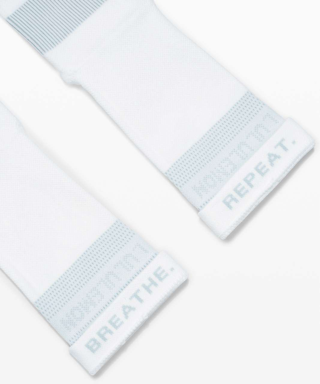 Lululemon Power Stride Crew Sock *Mantra - White / Hazy Jade