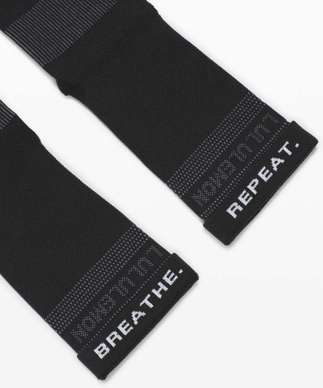 Lululemon Power Stride Crew Sock *Mantra - Black