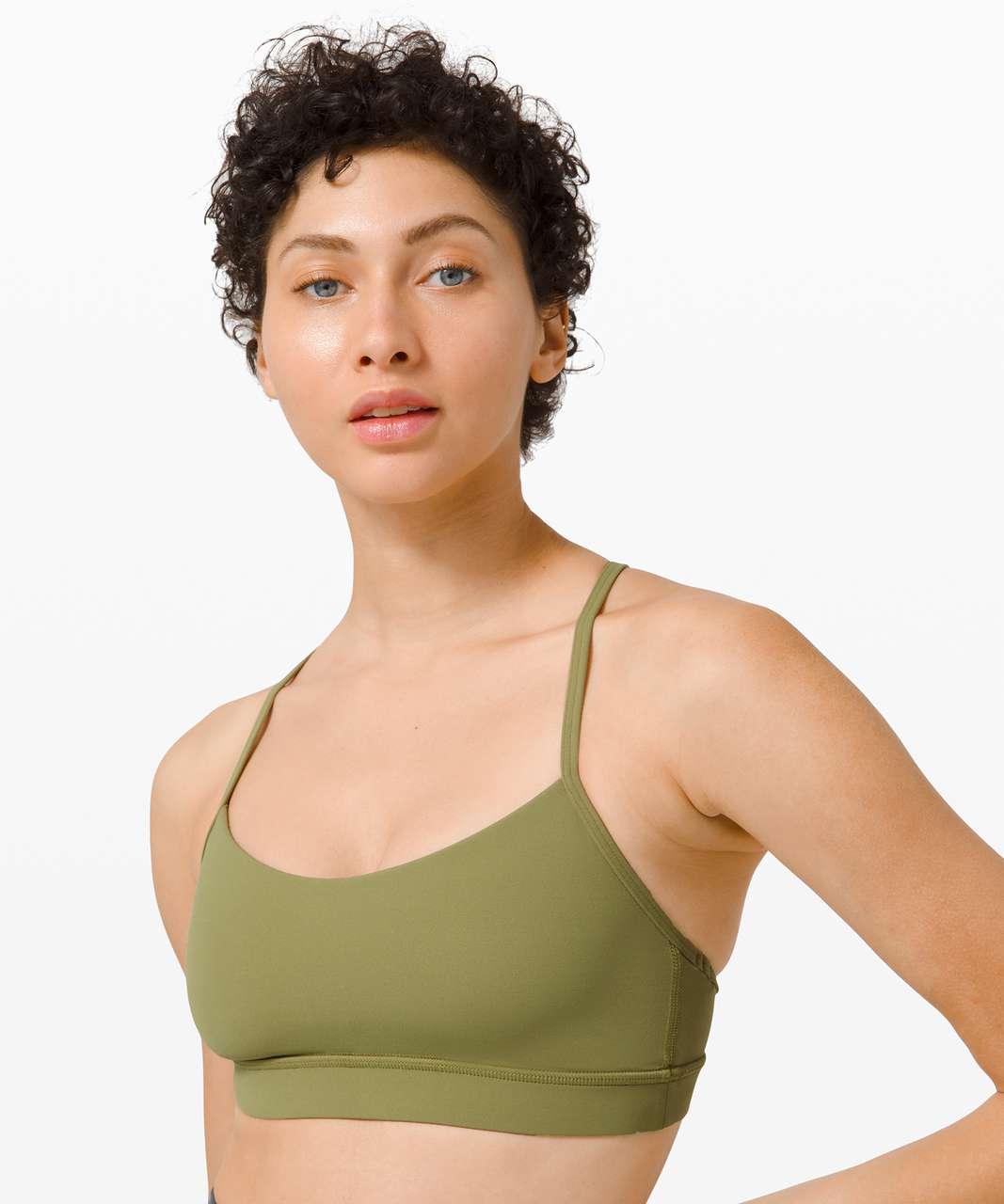 Lululemon Flow Y Bra Nulu *Light Support, B/C Cup - Bronze Green