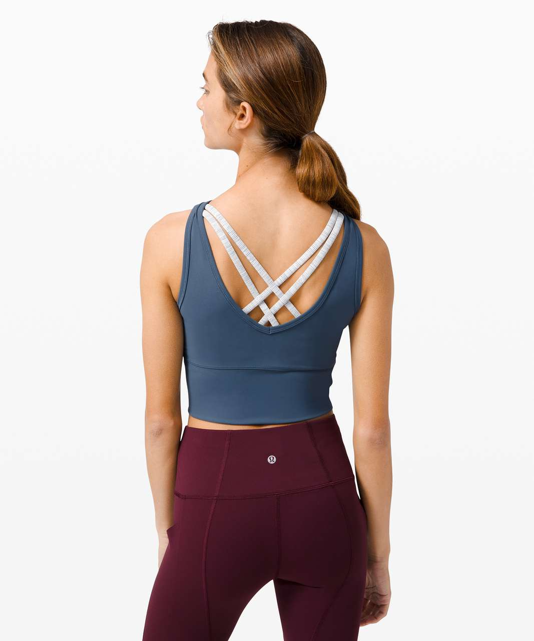 Lululemon Power Pivot Tank *Everlux - Iron Blue