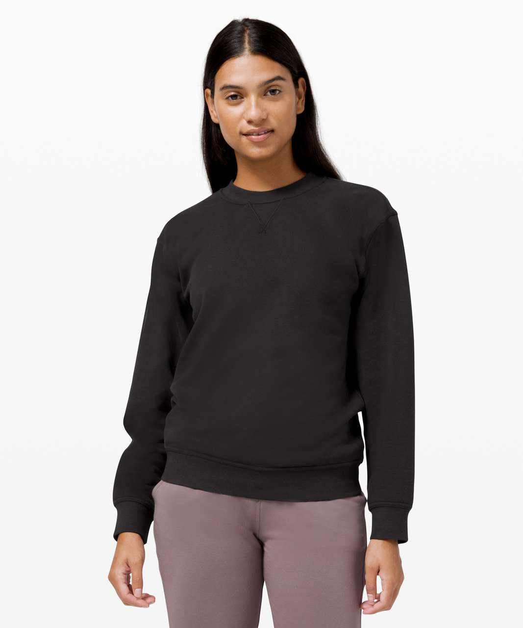 Lululemon All Yours Crew *Fleece - Black