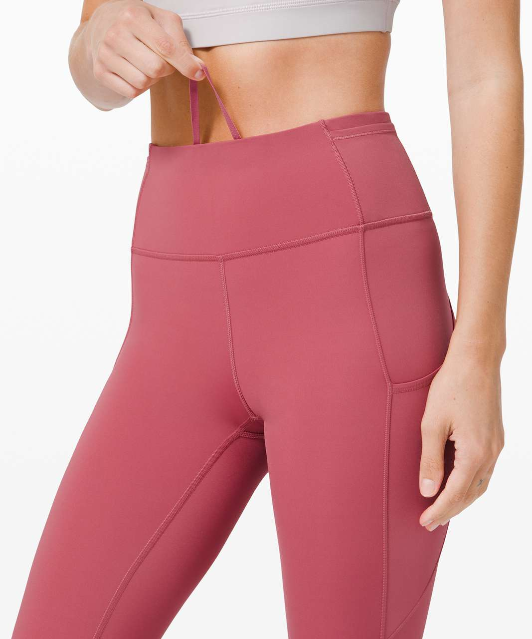 """Lululemon Fast and Free Crop II 19"""" *Non-Reflective Cool - Cherry Tint"""