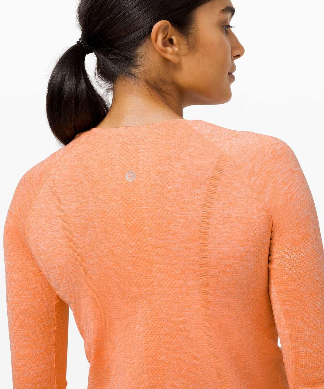 Lululemon Swiftly Tech Long Sleeve 2.0 - Amber Orange / White