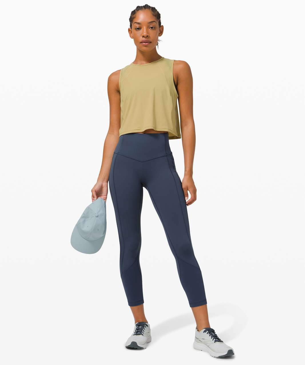 """Lululemon All The Right Places Crop II *23"""" - Iron Blue"""