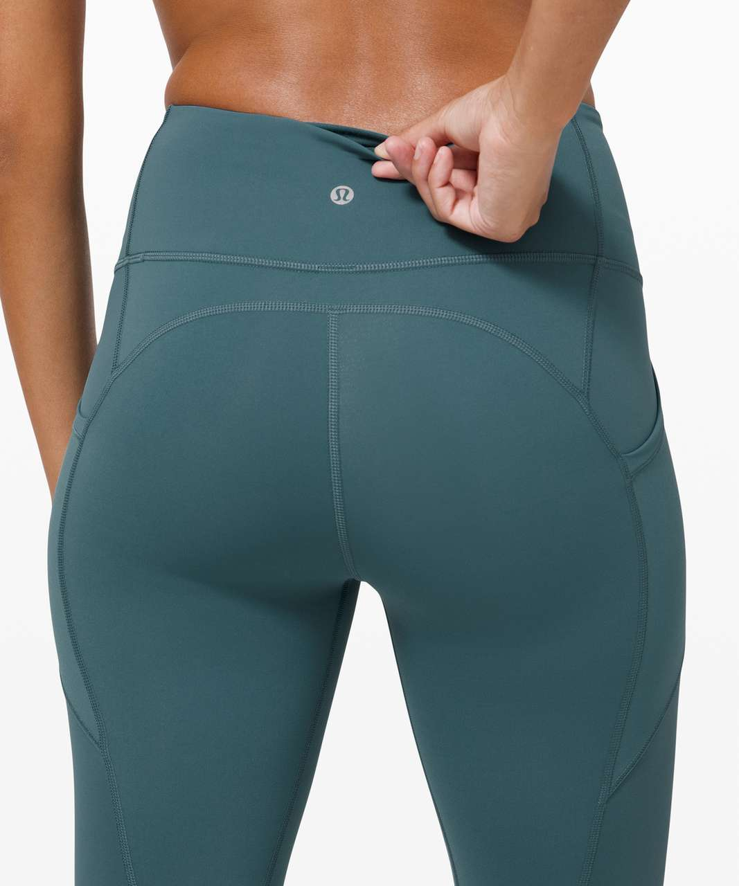 """Lululemon All The Right Places Crop II *23"""" - Desert Teal"""