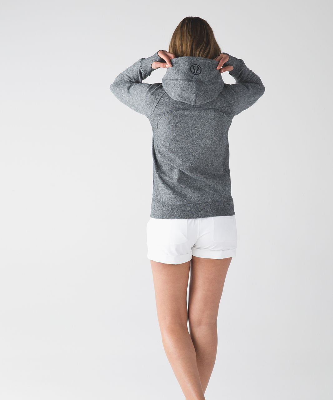 Lululemon Scuba Hoodie III - Heathered Speckled Black / Black / Black