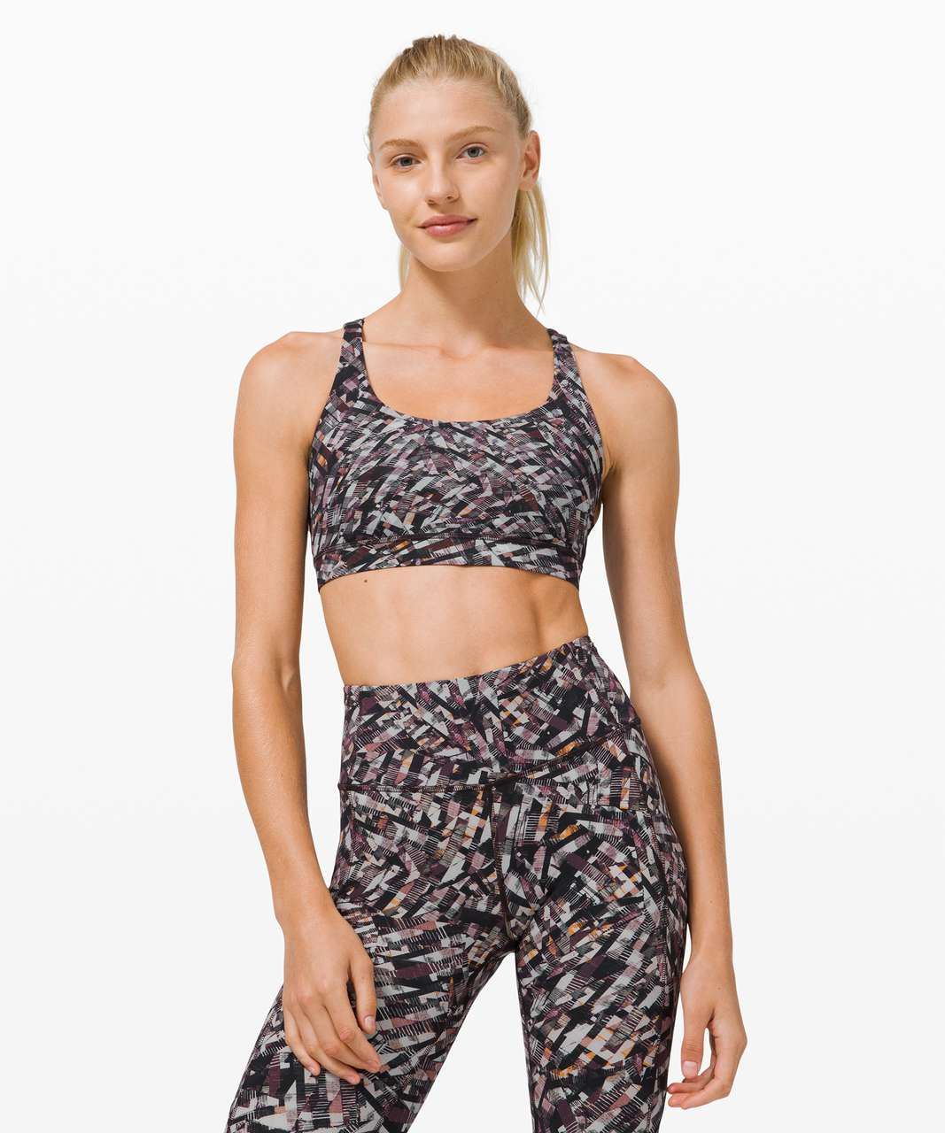 Lululemon Energy Bra *Medium Support, B–D Cup - Kaleidoscopic Pink Multi