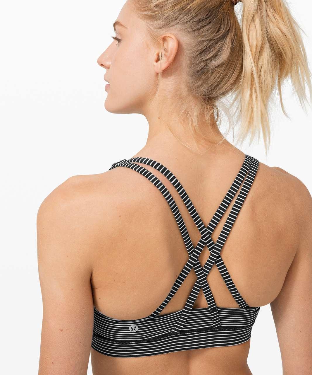 Lululemon Energy Bra *Medium Support, B–D Cup - Hype Stripe Black White